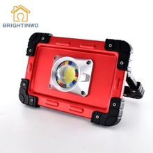 цена на BRIGHTINWD Portable Camping Lights 20W LED COB Work Lamp USB Rechargeable 6000Mah Waterproof IP44 Floodlight For Outdoor Tent