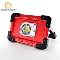 BRIGHTINWD Portable Camping Lights 20W LED COB Work Lamp USB Rechargeable 6000Mah Waterproof IP44 Floodlight For Outdoor Tent