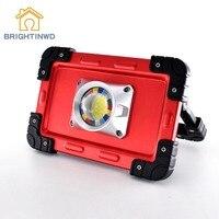 Brightinwd Портативный Походные фонари 20 Вт светодио дный удара работы лампы USB Перезаряжаемые 6000 мАч Водонепроницаемый IP44 прожектор для наружн...