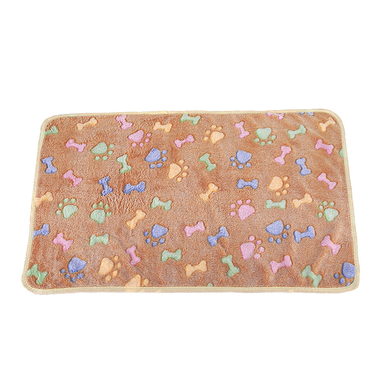 Pet Blanket Kennel Mat Dog Thick Coral Fleece Autumn And