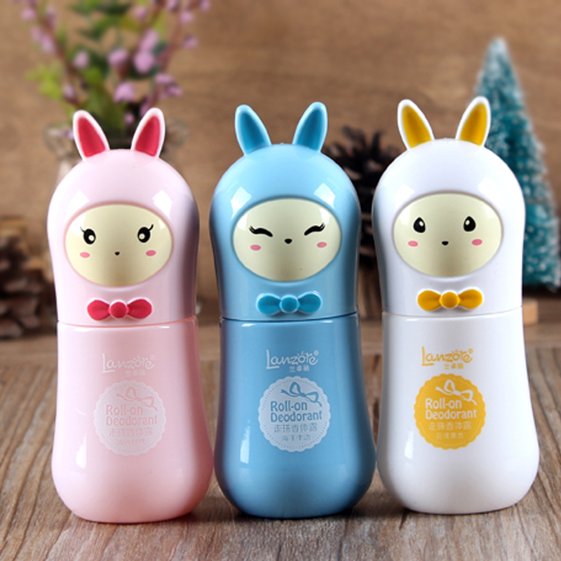 Cute rabbit botanical extracts antiperspirant deodorant to remove body odor liquid Perfumed Body Lotion color random A2