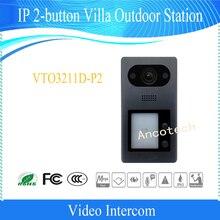 Free Shipping DAHUA Video Intercom Doorbell IP 2-button Villa Outdoor Station Without Logo VTO3211D-P2