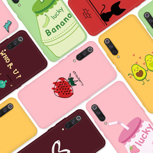 Silicone TPU Case For Xiaomi Mi 9 SE 8 Lite A2 9T Pro Animal Cartoon Pattern Painted Candy Color Matte Cover On 6X Capa