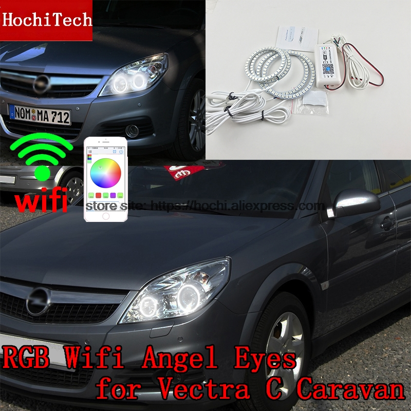 HochiTech Excellent RGB Multi-Color halo rings kit car styling for Opel Vectra C Caravan 2005-08' angel eyes wifi remote control hochitech excellent rgb multi color halo rings kit car styling for volkswagen vw golf 5 mk5 03 09 angel eyes wifi remote control