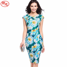 BAITAI Fashion Women Summer Dress Sleeveless Maxi Plus Size Woman Dress Female Slim Bodycon Clothing