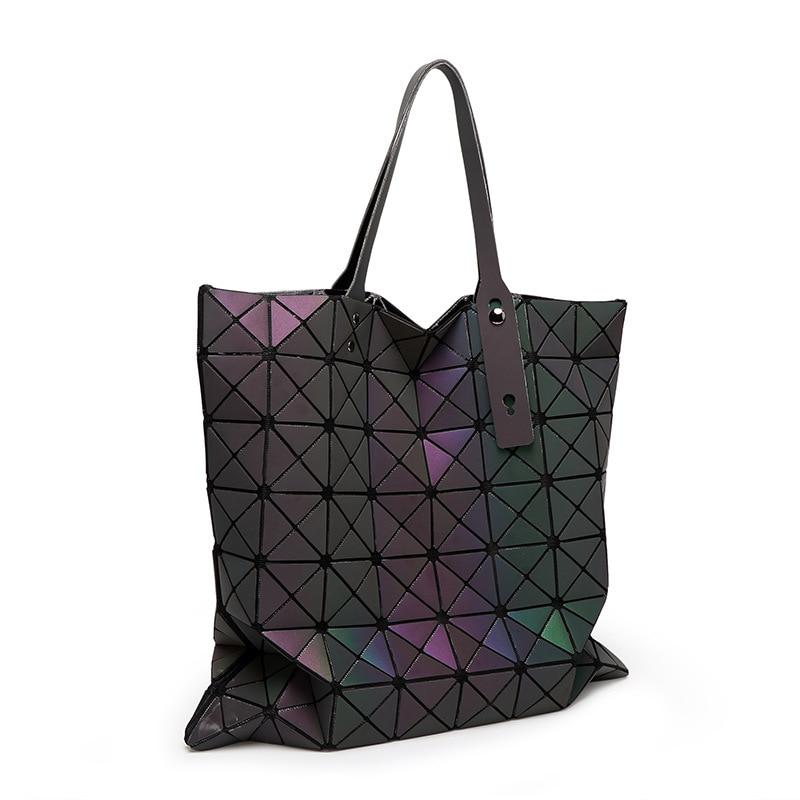 Fashion Luminated Large capacity Shoulder Bag Women Large capacity Brand big Han