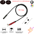 5.5mm Len Waterproof Endoscope Android Camera 1m Cable 6 LED USB PC Android Endoscope Camera Snake Pipe Inspection Borescope Cam