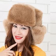 2014 NEW Winter Women Faux Raccoon Fox Fur Hat Russian Mongolia Cap Winter Ski Hats Outdoor Trapper Hats Earflap Russian Hats