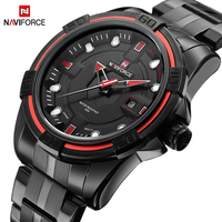 NAVIFORCE Mens Watches Top Brand Luxury 3D Face Quartz Analog Stainless Steel Army Military Sports Wristwatch