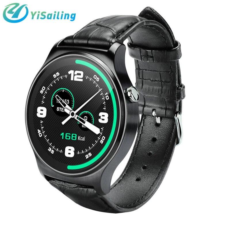 imágenes para Original gw01 bluetooth 4.0 smart watch reloj deportivo pulsera para ios teléfono ips pantalla redonda con heart rate monitor remoto