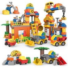 City Series Engineering Fire Brigade Firemen Figures Building Blocks Sets Bricks Educational Kids Toy
