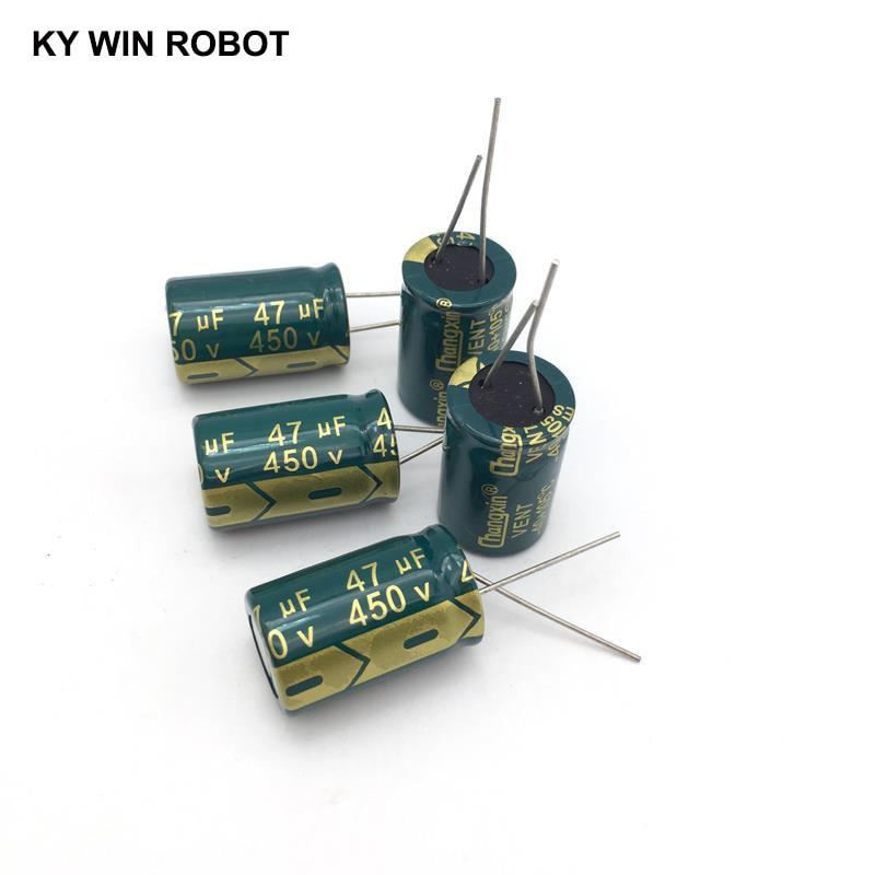 5 pièces condensateur électrolytique en aluminium 47 uF 450 V 16*25mm frekuensi tinggi électrolytique radiale kapasitor