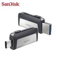 Sandisk USB 3.1 Flash Drive Ultra Dual Drive USB Type C 32GB 64GB 128GB OTG Pen Drive For Smartphone Flash Drive 16GB Pendrive