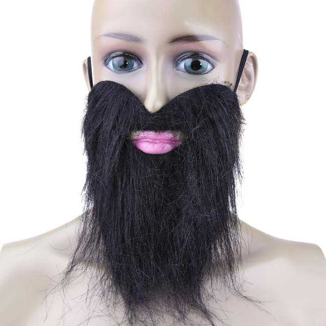 36de4f5a7222 Online Shop 1pc Artificial Beard Halloween Mask Fake Mustache Funny Mask  Costume Party Facial Game Black Whisker Halloween Supplies