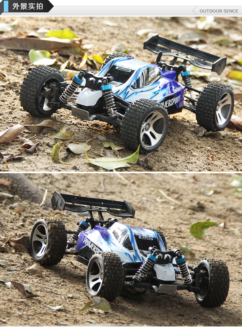 YUKALA Supper Racing Car Wl toys A959 Remote Control Car 2.4GHz 4WD With 40-60km/hour High speed rc electric car Toy Gift