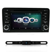 Android 4.4 Car DVD Player Quad Core 1024*600 GPS Radio for AUDI A3 2003-2013 With Canbus Wifi GPS Navigation BT Free Map
