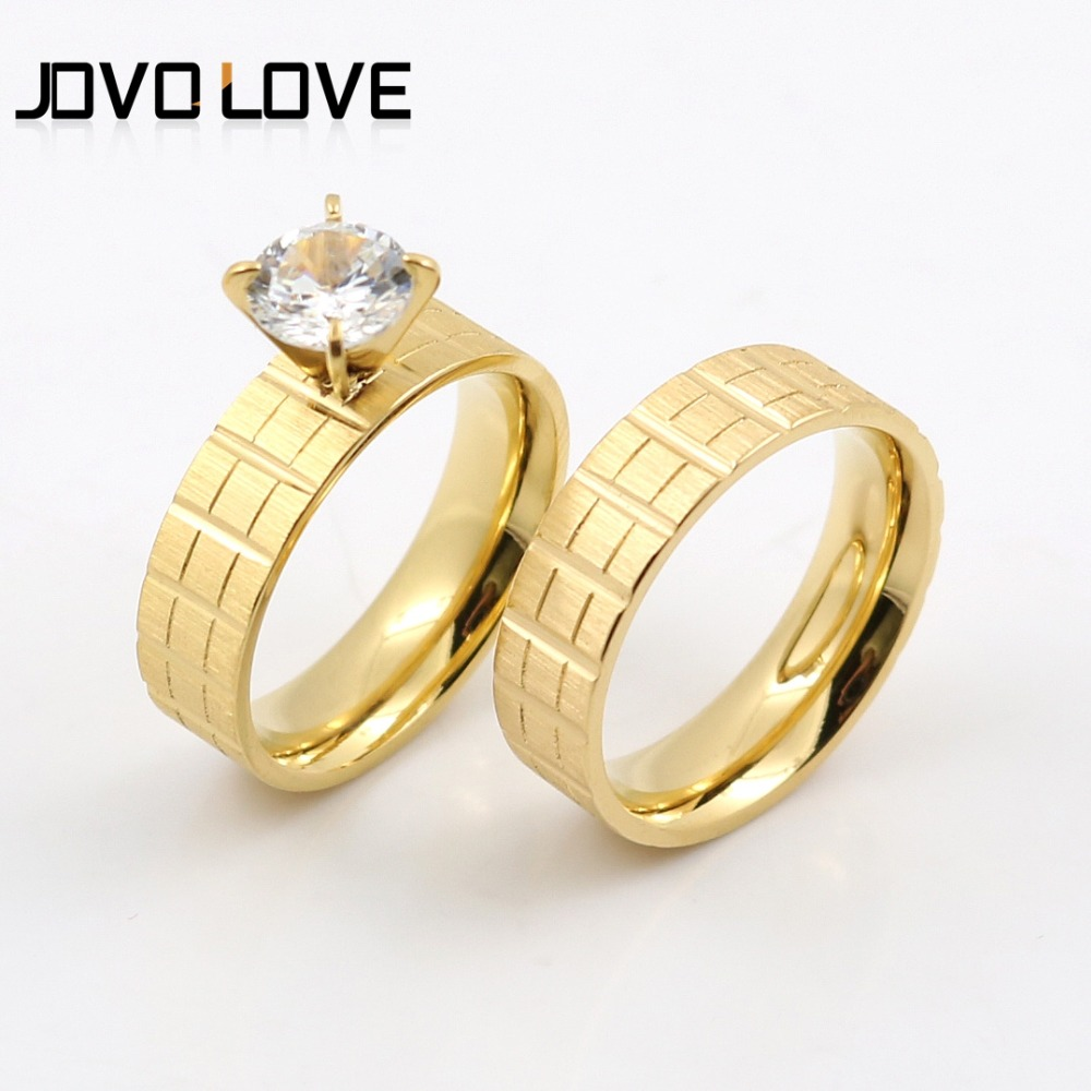 jovo vintage roman rings design simple rings sets with charm cubic zircon prong setting rings for - Simple Wedding Ring Sets