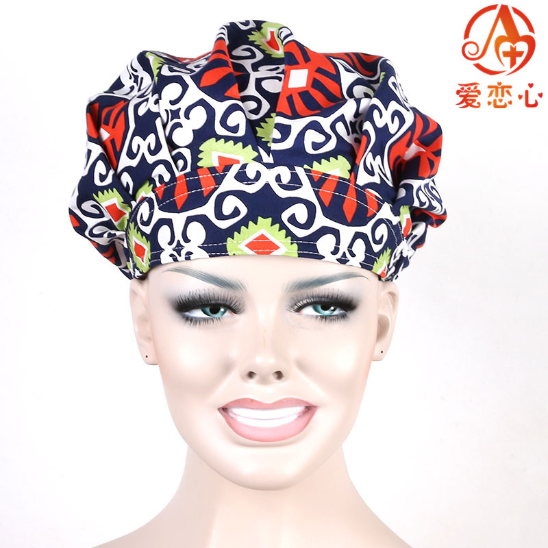 NEW Ai Lianxin Surgical caps doctors and nurses cap and printed cotton cap long hair bouffant hat   ALX-159 набор головок торцевых ударных 60 мм 18 шт jtc k4181