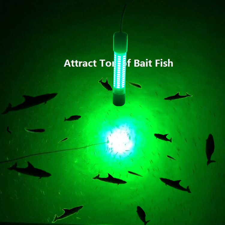 12v led green underwater fishing light lamp 8w fishing