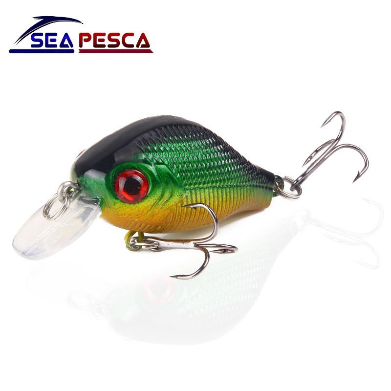 SEAPESCA Minnow Fishing Lure 5.5cm 9g Crankbait Hard Bait artificial Lures Japan Wobbler Fishing Accessories JK76 new 12pcs 7 5cm 5 6g fishing lure minnow hard bait sea fishing tackle crankbait fishing kit jig wobbler lures bait with hooks