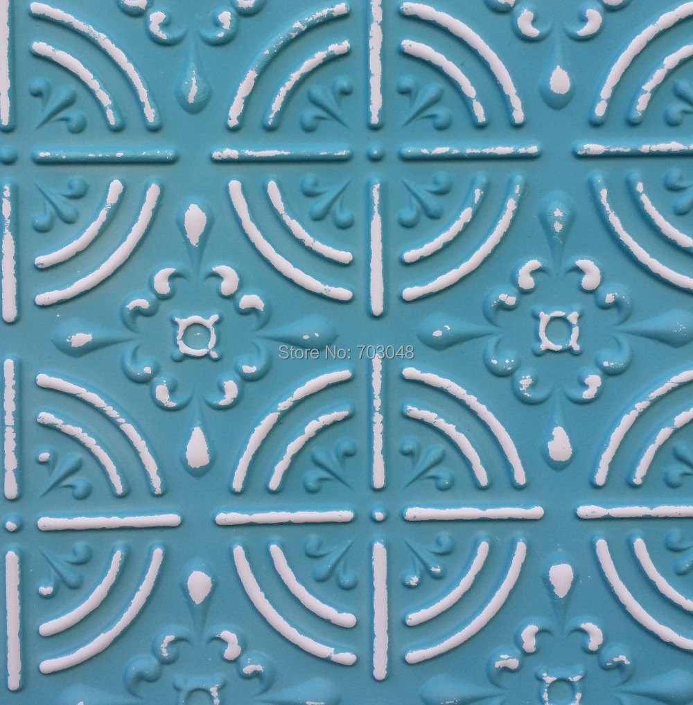 PLB18 Faux tin art antiqued ceiling tiles embossed backsplash store ...