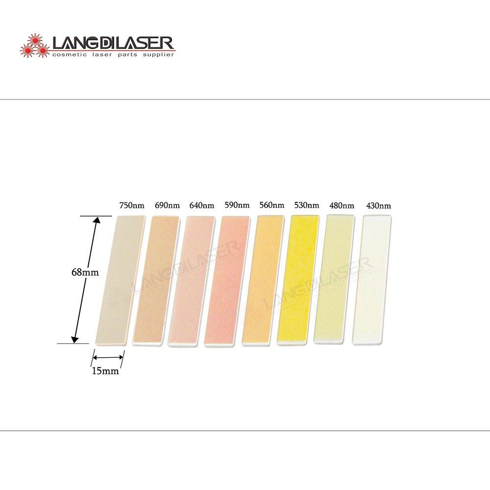 Güzellik ve Sağlık'ten Dövme İğneleri'de IPL filtreler, boyutu: 68*15*1mm, uzun geçiren filtre, 8 filtreler dahil, 430nm/480nm/530nm/560nm/590nm/640nm/690nm/750nm filtreler'da  Grup 1