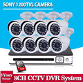 SONY CCTV System 1200TVL 8CH AHD Security HVR 720P Video Night Vision Home Surveillance Security Cameras System With 1TB HDD