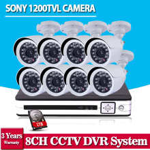 SONY CCTV System 1200TVL 8CH AHD Security HVR 720P Video Night Vision Home Surveillance Security Cameras