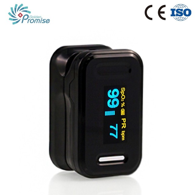 Instant Read Digital Pulse Oximeter Oxygen Sensor and Pulse Rate Monitor with Carry Case and Lanyard CE FDA Approved