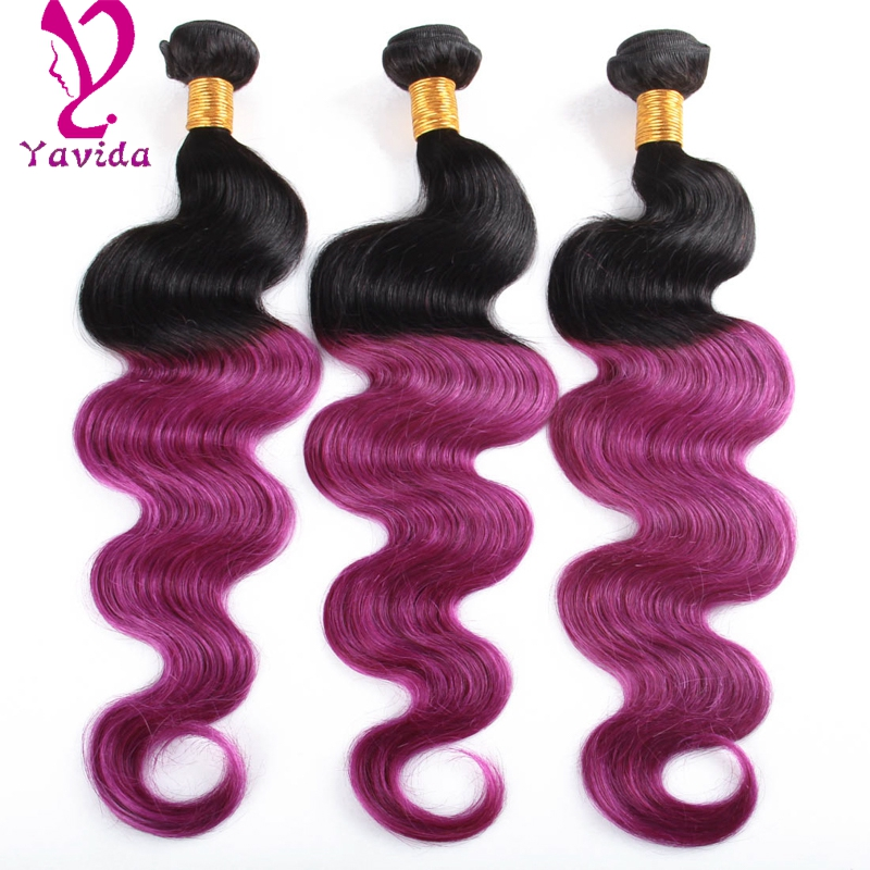 ombre brazilian hair purple