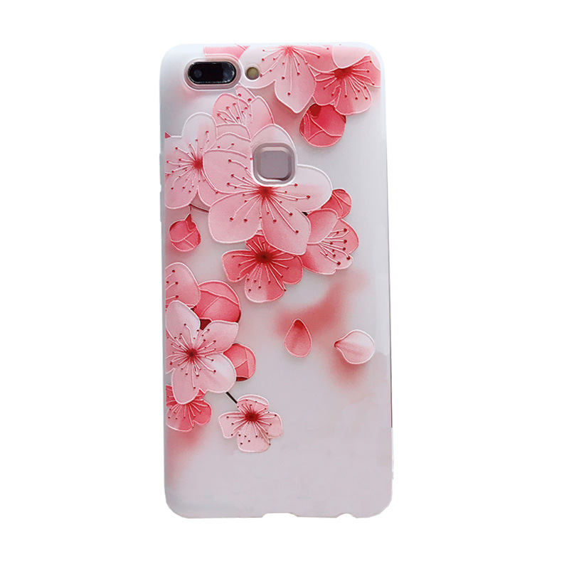 Image 4 - Luxury phone case 3D patterned flower New fashion phone cover for VIVO X7 X9 X20 X21 y85 y83 y79 Rose floral OPPO soft TPU Cover-in Fitted Cases from Cellphones & Telecommunications