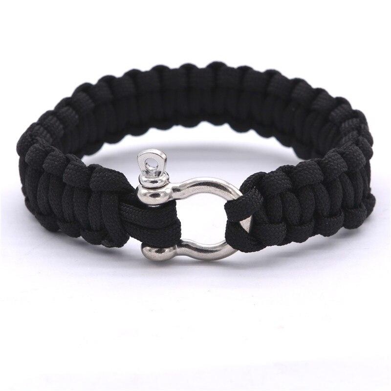 2016 new outdoor camping paracord bracelets for men women parachute rope clasp survival bracelet. Black Bedroom Furniture Sets. Home Design Ideas