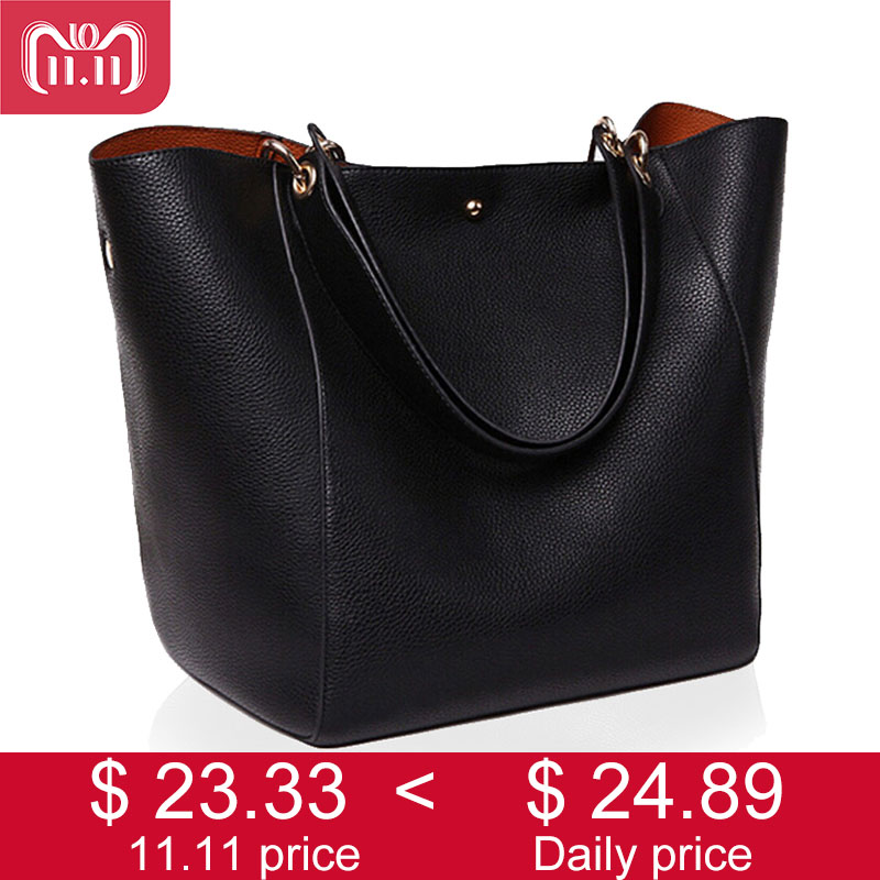 Women Messenger Shoulder Bag Big PU Leather Bag Female Genuine Black Handbag Lady Tote Crossbody Bag sac a main femme de marque new arrival brand designer mini handbag high quality women leather shoulder bag fashion crossbody bag sac a main femme de marque