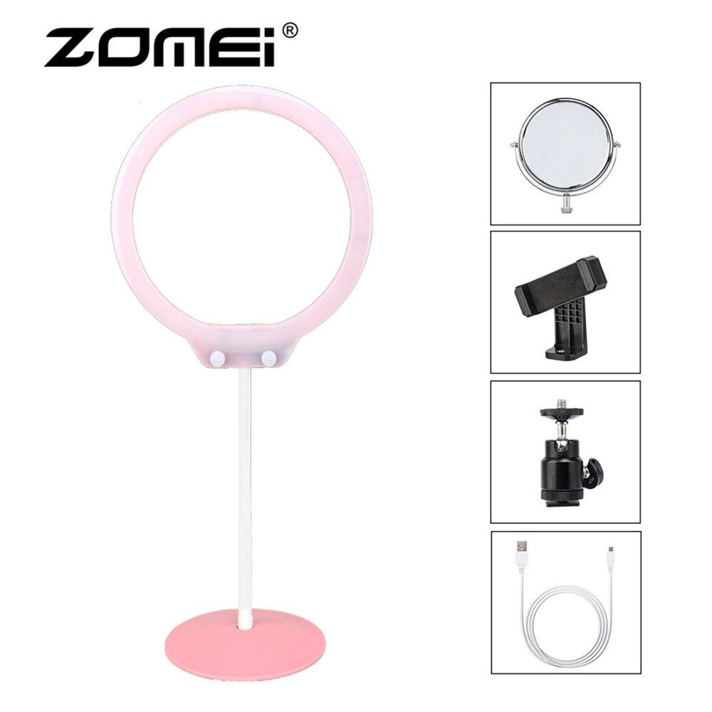 Zomei селфи СВЕТОДИОДНЫЙ Кольцо освещения света Soft фото затемнения кольцо лампы для Живая косметика сотовый телефон Камера Фотостудия
