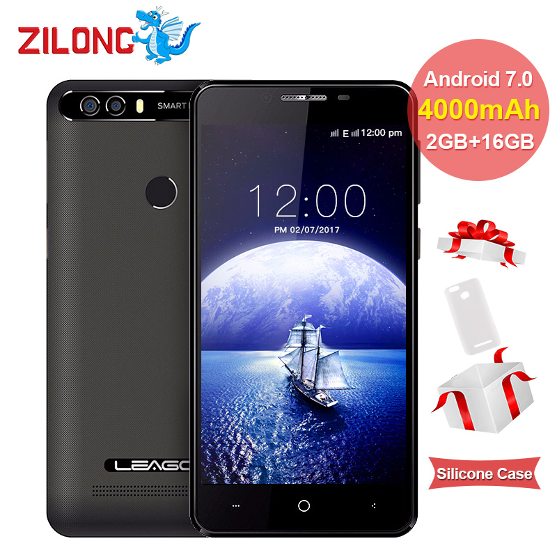 bilder für LEAGOO KIICAA POWER Android 7.0 Dual-kamera Handy 4000 mAh 5,0 Zoll MT6580A Quad Core 2 GB RAM 16 GB Fingerprint Smartphone