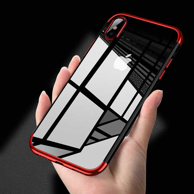 Clear Silicone TPU Case Voor iPhone X 8 7 6 s 6 s Plus 7 Plus 8 Plus 6 Plus voor Samsung Galaxy S8 Plus Note 8 Soft Volledige Cover
