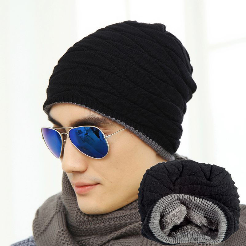 2016 Brand Beanies Knit Men's Winter Hat Caps Skullies Bonnet Winter Hats For Men Women Beanie Fur Warm Baggy Wool Knitted Hat aetrue beanie knit winter hat skullies beanies men caps warm baggy mask new fashion brand winter hats for men women knitted hat