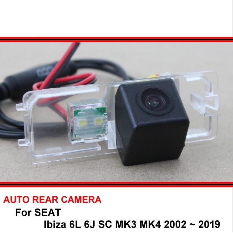 Для SEAT Ibiza 6L 6J SC MK3 MK4 2002 ~ 2019 камера заднего вида ночного видения камера заднего вида Автомобильная камера заднего вида HD CCD