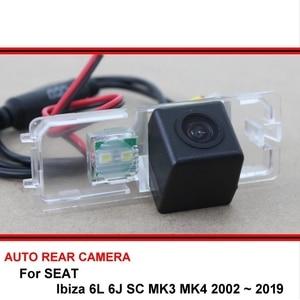 Câmera de visão noturna para seat ibiza 6l, 6j sc mk3 mk4 2002 ~ 2019, câmera traseira de visão noturna câmera hd ccd