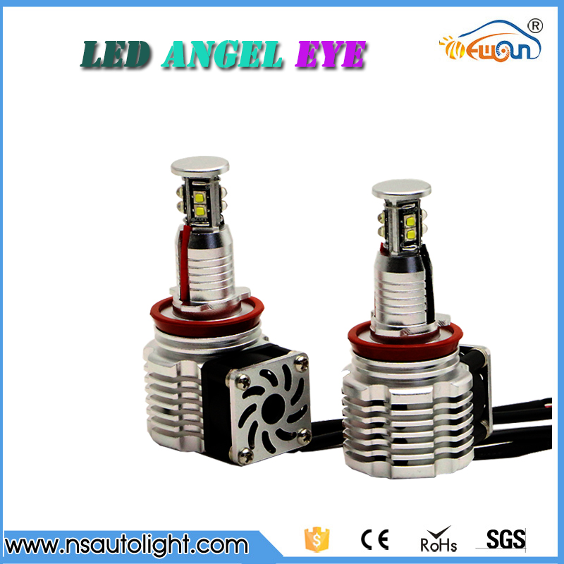 One pair 80W CREE CHIPs led angel eye marker no error canbus led headlight lamps H8 angel eyes light for BMW all in one canbus 80w 8000lm cree chip led h4 hi