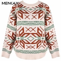 MENKAY 2018 New Women S Spring Korean Version Of The Harajuku Retro Collar Thick Warm
