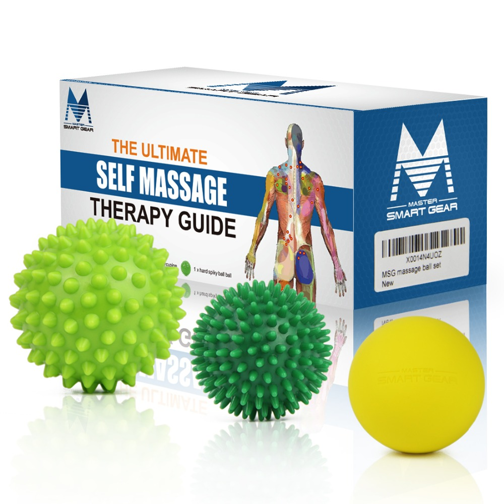 Massage Ball Set Back Lacrosse Ball Crossfit For Effective Relief Muscle Pain Therapy Sports Gym Release Health Care gym crossfit fitness massage lacrosse ball therapy trigger full body exercise sports yoga balls relax relieve fatigue tools