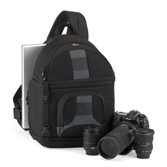 Lowepro SlingShot 350 AW  DSLR Camera Photo Sling Shoulder Bag with Weather Cover Free Shipping