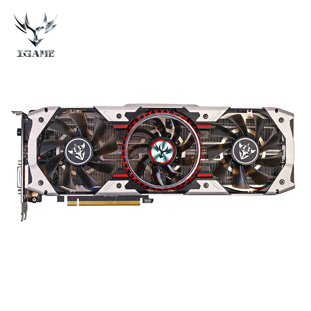 Colorful iGame GTX 1080Ti Vulcan AD Gaming Video Graphics Card 1708MHz 11GB GDDR5X 352bit Gamer Desktop Super Card SLI VR Ready