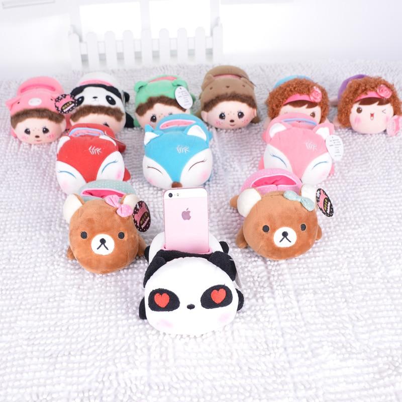 1Pcs 15Cm Metoo Kawaii Plush Cartoon Mobile Phone Seat Baby Toys Kids Children Stuffed Foxes Toys Soft Cute Phone Holder Dolls baby toys