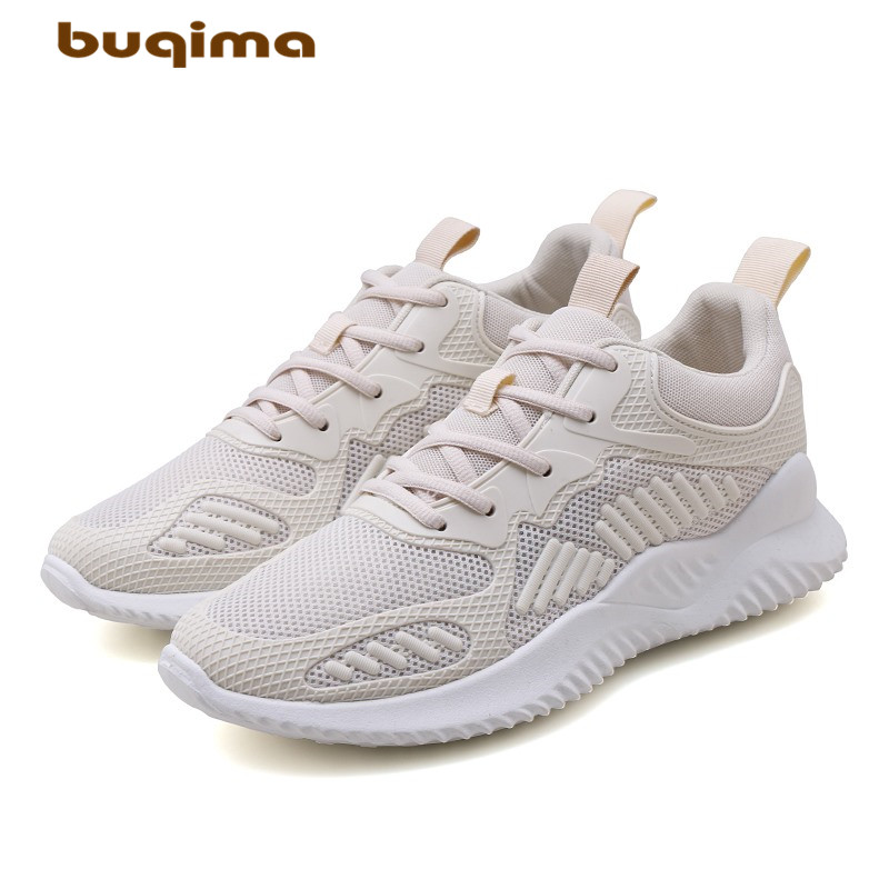 buqima New Men Running Shoes Lightweight Mesh Comfortable Sports Male Sneakers