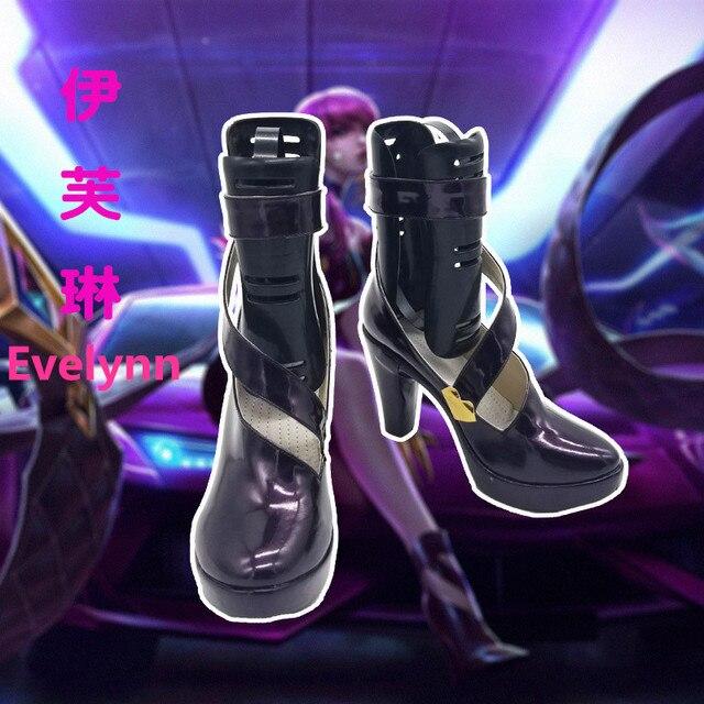 Anime! LOL KDA Ahri Akali Kaisa Evelynn Cosplay Shoes K/DA Boots For Women 2018 Hot Game Custom-made Size Free Shipping 3