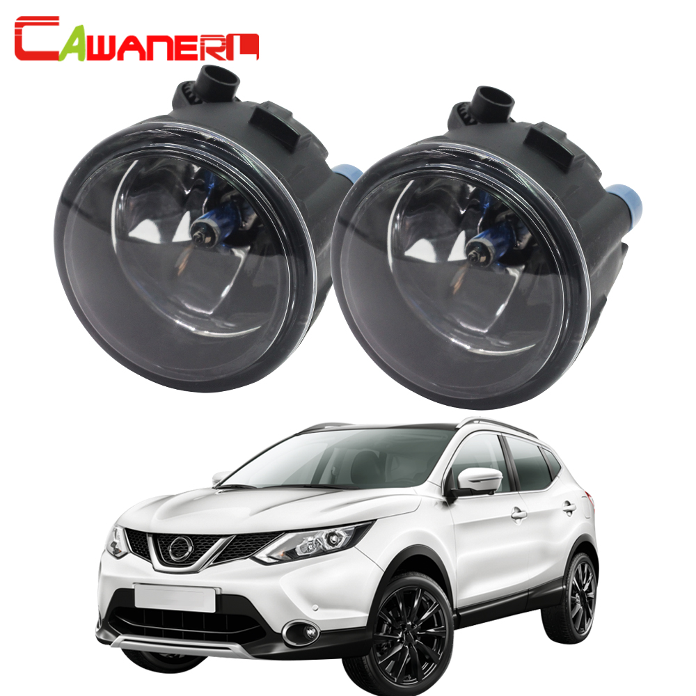 Cawanerl 100W H11 Car Halogen Fog Light Daytime Running Lamp DRL 12V For Nissan Qashqai J11 J11_ Closed Off-Road Vehicle 2013- 2x car led daytime running lights drl fog lamp for renault duster megane 2 3 logan captur laguna nissan qashqai j11 juke tiida