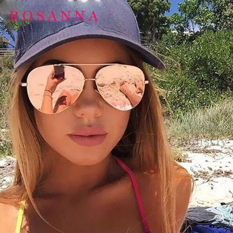 Rosanna diseñador Moda de Nueva Marca oversized pilot oval gafas de ...