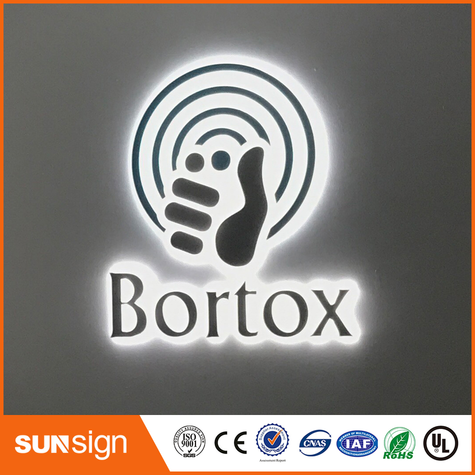 Gold Color Stainless Steel Backlit Signage Letters LED 3D Illuminated Channel Letters Signs For Advertising Customized